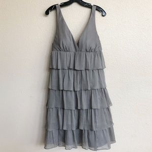 NEW!! Gray J. Crew Tiered Ruffled Cocktail Dress